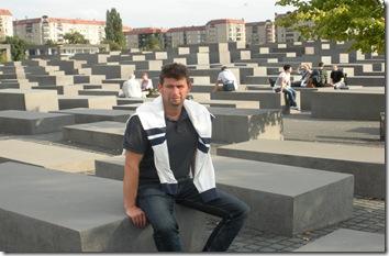 berlin rudi at holocaust memorial