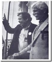יאן וינר עם וצלב האוול במהפכת הקטיפה, 1989 - עותק