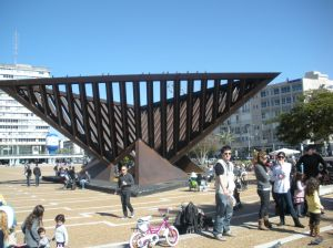 rabin square sculpture