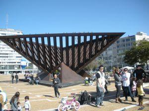 rabin square sculpture