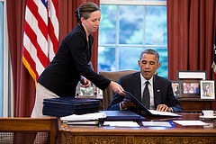 sugning bill with secretary joab walsh  phto pete suza white house