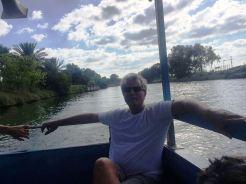 kobi on the boat
