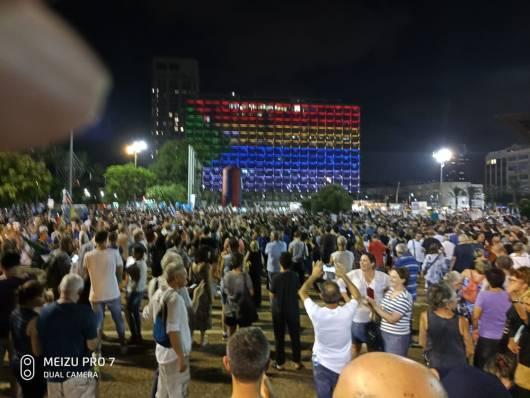 post seven demonstration against law of nation